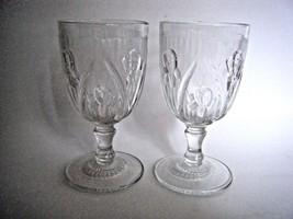 Iris & Herringbone Clear Glass Water Goblet Ste... - $19.75