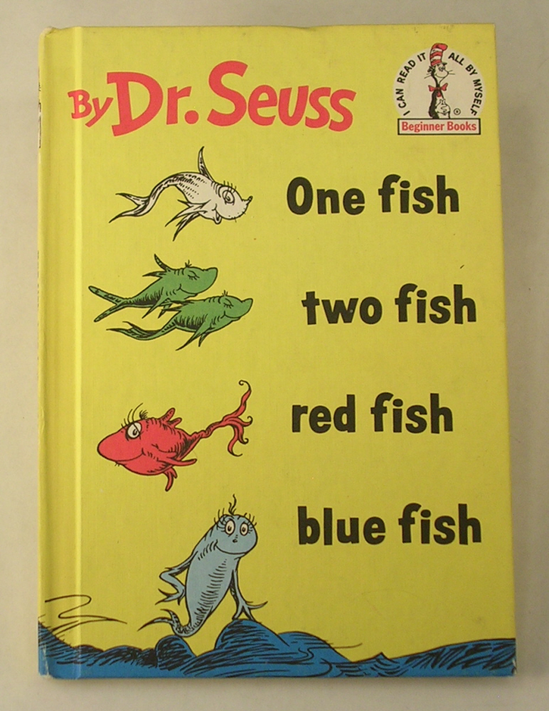 Dr. Seuss One Fish Two Fish Red Fish Blue Fish Book