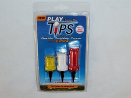 TiPS Flexible Golf Tees ~ CASE LOT 6 PACKS ~ Assorted Sizes, 3 Tees Per ... - $41.16