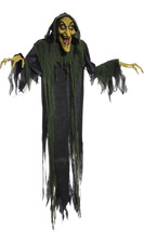 Hanging Witch Animated Halloween Prop Lifesize 6 FT Haunted House Poseab... - €32,01 EUR