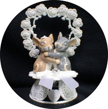 Mice Mouse Country Western Wedding Cake Topper God Beautiful Nature Outdoor Funn - $37.13