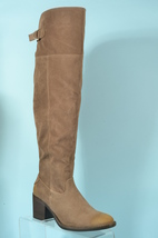 Too Good To Pass Women's Taupe Suede Knee High Boots Size 7.0 - $55.00