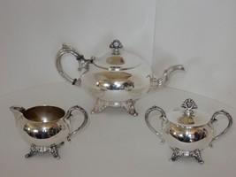 English Silver Mfg Corp Silver Plate Tea Coffee... - $74.23