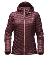 The North Face Thermoball Hooded Insulated Jacket - Women's, DEEP GARNET RED - $149.99