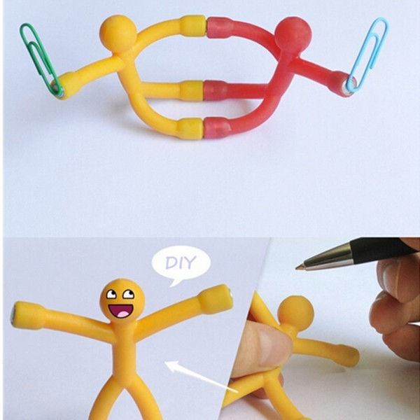 Novelty Curiously Awesome Gift Mini Q-Man Magnet Cute Rubber Magnets Man Toy Ran