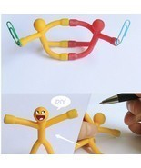 Novelty Curiously Awesome Gift Mini Q-Man Magnet Cute Rubber Magnets Man... - $78,90 MXN