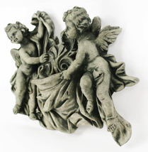 Cherubs with Bowl Concrete Wall Plaque  - $64.00