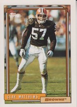 Clay Matthews 1992 Topps Card #205 - $0.99