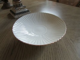 """LENOX CHINA FLUTED PEDESTAL BOWL 10.75"""" MADE IN USA IVORY WITH GOLD RIM - $24.70"""