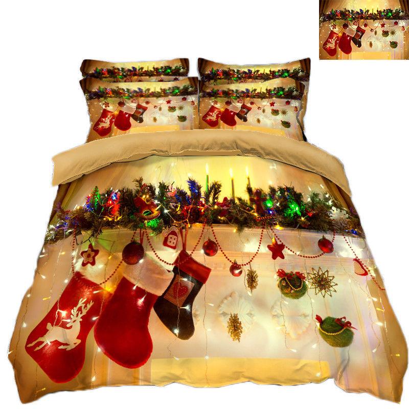 3D Christmas  Xmas 2112 Bed Pillowcases Quilt Duvet Cover Set Single Queen King - $90.04 - $122.20
