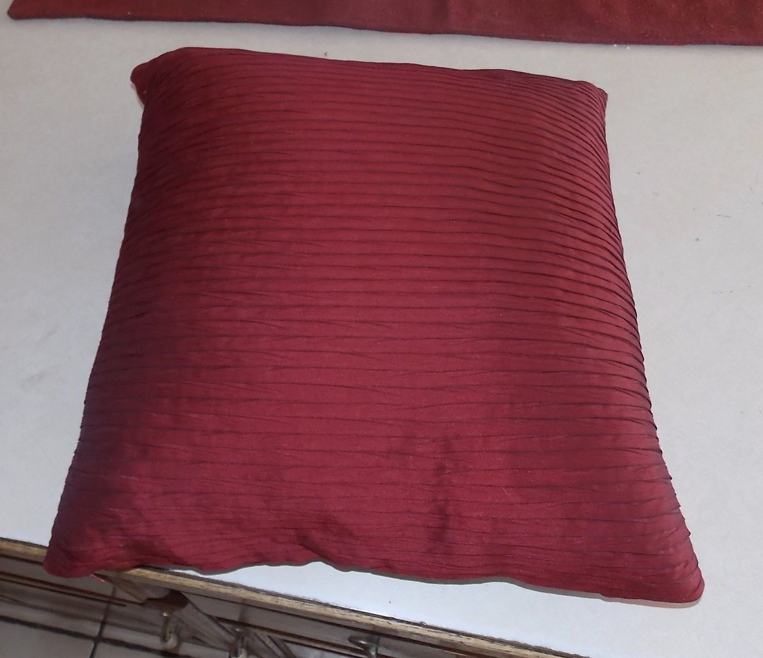 Red Stripe Print Decorative Down Filled Throw Pillow - $39.95