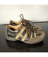 Born Men's Sz 10 / 44, brown Leather lace up fashion walking stripe snea... - $27.72