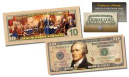 Declaration of Independence Official Legal Tender U.S. $10 Bill w/COA * ... - $29.65