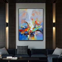 Contemporary hand painted abstract art picture oil painting ab 00000  thumb200