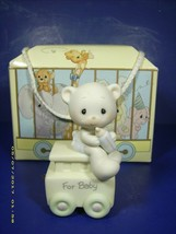"Precious Moments FIGURINE 15938 BIRTHDAY TRAIN ""FOR BABY May Your Birthd... - $14.70"