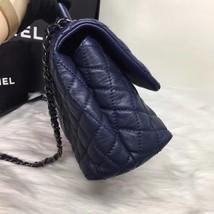 100% AUTH CHANEL RARE MEDIUM COCO HANDLE BAG DARK NAVY BLUE CAVIAR RHW image 4