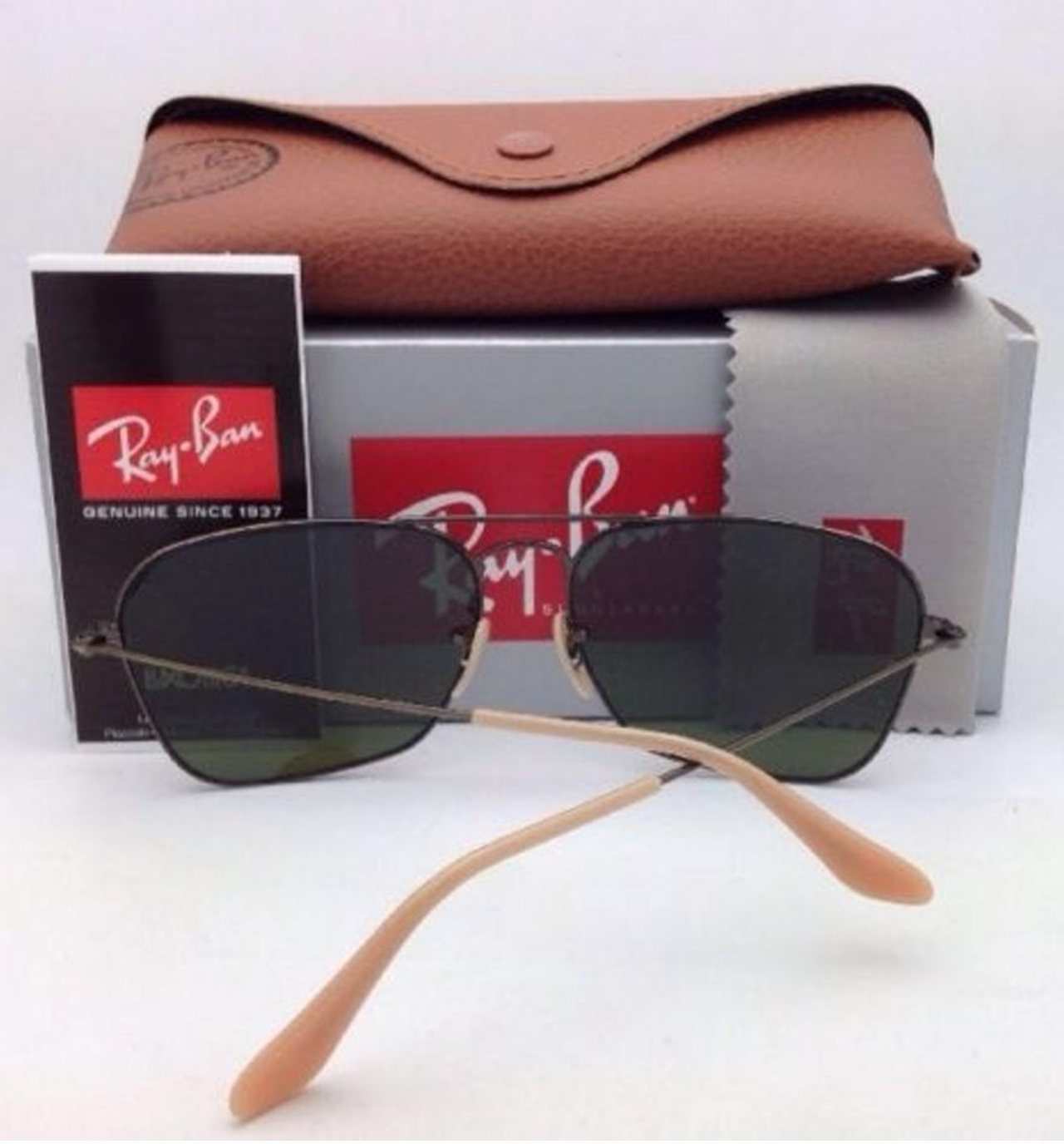 RAY-BAN Sunglasses CARAVAN RB 3136 167/4K 58-15 Bronze Aviator w/ Lilac Mirror