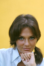 Jacqueline Bisset 1960's head and shoulders studio portrait in white shi... - $23.99