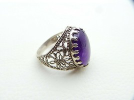 925 Solid Sterling Silver Ring Beauty Natural Amethyst Gemstone US Ring ... - $49.22