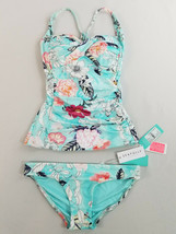 new SEAFOLLY women swimwear swimming suit 40054-167 2pc blue floral sz 6 US - $42.90