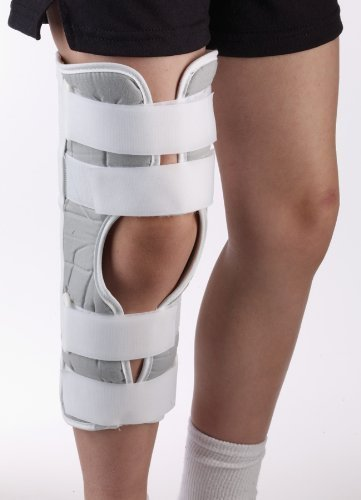 "Primary image for Corflex Ultra Tricot Straight Leg Immobilizer - Knee Immobilizer-XS-17"" - White"