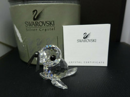 Retired Swarovski Crystal Mini Seal With Black Whiskers #012530 w/ Box & COA - $39.95