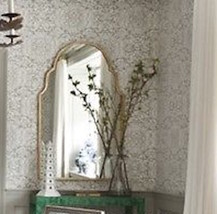 New Arch Moroccan Antique Silver/Gold Wall Mirror Foyer Bathroom Vanity Horchow - $259.00