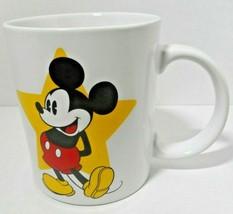 Mickey Mouse Mug Jerry Leigh 2-sided Image Yellow Star Park Mug Walt Disney - $19.79