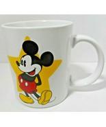 Mickey Mouse Mug Jerry Leigh 2-sided Image Yellow Star Park Mug Walt Dis... - $19.79
