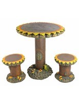 Four Seasons Home 3-Piece Sunflower Table Chair Garden Patio Furniture Set - $379.90