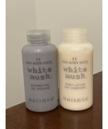 THE BODY SHOP - WHITE MUSK Body Lotion + Shower Gel Travel Size Set 60ml... - $19.79