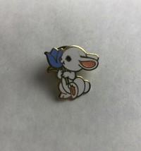 """Bunny Rabbit and Blue Tulip Hallmark Collectible Souvenir Pin 1983 3/4"""" - $14.03"""