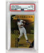 1999 Topps Finest Sterling Frank Thomas #263 Gold Refractor # 67/100 - P... - $128.69