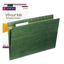 Smead Hanging File Folder with Tab, 1/3-Cut Adjustable Tab, Legal Size, ... - $14.06