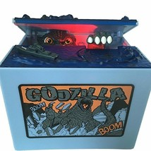 Cool Musical Automatic Godzilla Bank Stealing Coin Moving Dinosaur Monst... - $25.81