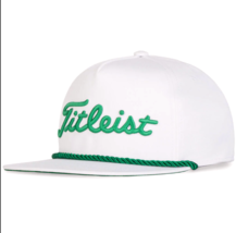 TITLEIST 2020 ST.PATRICK 'S DAY ROPE FLAT BILL WHITE CAP STYLE# TH20ARFB... - $42.99