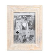 Lawrence Frames Weathered 5x7 Sarasota Whitewash Wood Picture Frame - €10,59 EUR