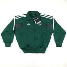 Nike Youth Boys S Green White Warm Up Track Jacket Striped Soccer Dri Fi... - £21.85 GBP