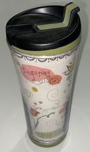 Starbucks 2007 Tumbler/Travel Mug 16 oz. Inspirational Flowers EUC - $13.71