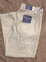 Croft & Barrow Easy Care Pleated Classic Fit Oyster Khaki Pants Men's 38... - $32.88