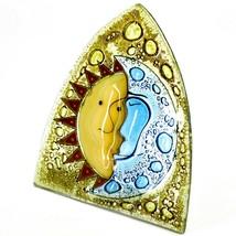 Fused Art Glass Sun & Moon Design Night Light Handmade in Ecuador image 2