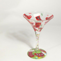 Lolita Stocking stuffer Martini glass handpainted  - $85.43