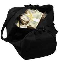 PROP MOVIE MONEY - 2000 Series $500,000 Aged Blank Filler Duffel Bag - $239.99