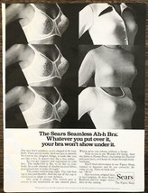 1974 Sears Seamless Ah-h Bra PRINT AD Whatever You Put Over It Won't Show Under - $10.70