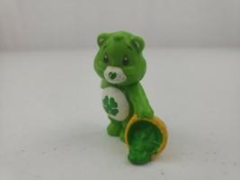 """Vintage Care Bears Good Luck Bear Clover Basket Figure AGC 1983 2"""" Tall - $7.80"""