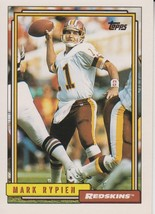 Mark Rypien 1992 Topps Card #295 - $0.99