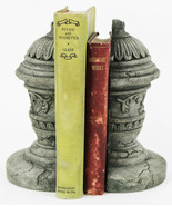 French Ornamental Concrete Bookends 7 inches H x 5 inches W  - $54.00