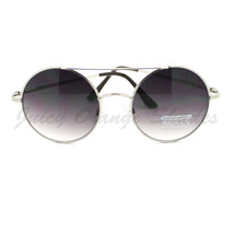 Womens Retro Fashion Sunglasses Round Double Bridge Metal Frame - $7.95