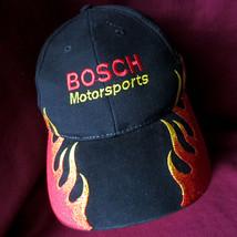 Vintage Bosche Motorsports Racing Flames Baseball Hat Cap OSFA Tech Tool... - $10.40