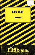 King Lear  Notes by Cliff's Notes Incorporated - $3.95